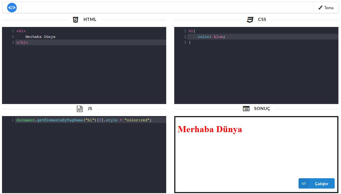 playground editor for web programing